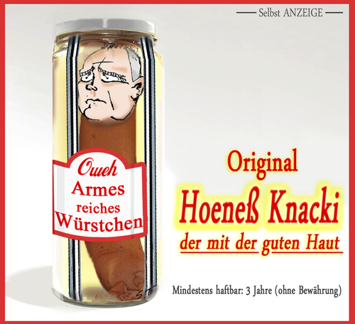 Cartoon: Das Hoeness-Würstchen (medium) by Simpleton tagged bratwurst,wurst,würstchen,nürnberger,gefängnis,strafantritt,haft,selbstanzeige,hoeness