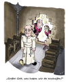 Cartoon: Fran-ken-ziskus (small) by Simpleton tagged papst,franziskus,frankenstein,monster,kardinäle,kurie,reformen