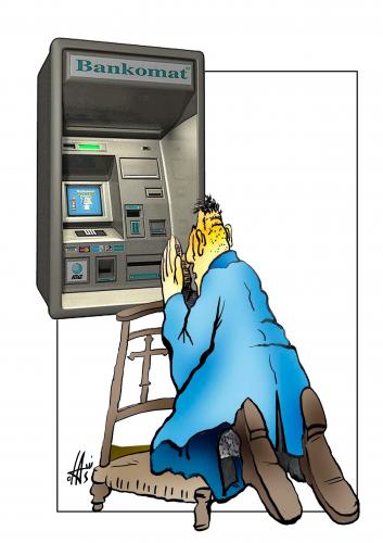 Cartoon: without words (medium) by Nikola Otas tagged bank,money