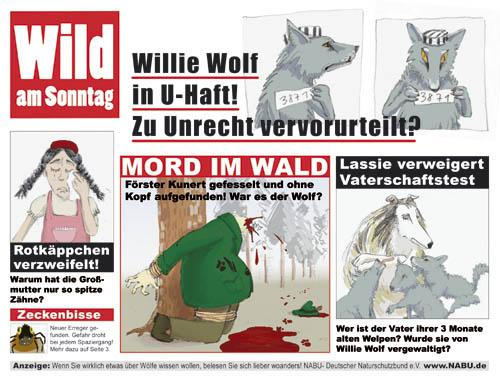 Cartoon: Wild am Sonntag (medium) by Anja Vogel tagged animals,humor
