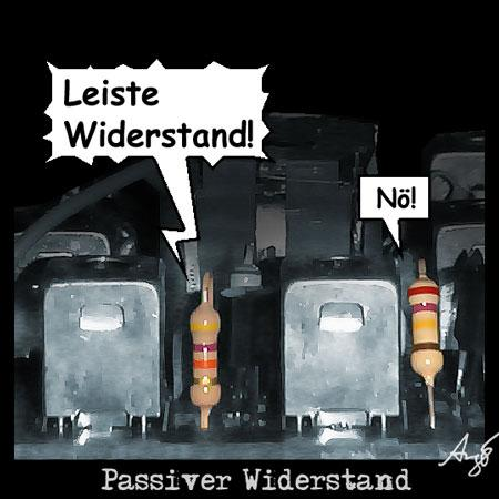 Cartoon: Passiver Widerstand (medium) by Anjo tagged passiv,widerstand,ghandi,protest,ohm,physik,zivilcourage