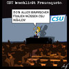 Cartoon: Frauenquote (small) by Anjo tagged csu,frauenquote,parteitag,gleichberechtigung