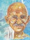 Cartoon: mahatma gandhi (small) by indika dissanayake tagged mahatma,gandhi