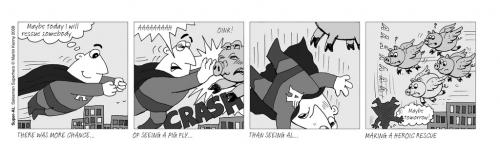 Cartoon: Dreaming (medium) by Super-AL tagged pigs,flying,superal,superhero