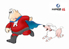 Cartoon: Super-AL - dogs hate him! (small) by Super-AL tagged dog