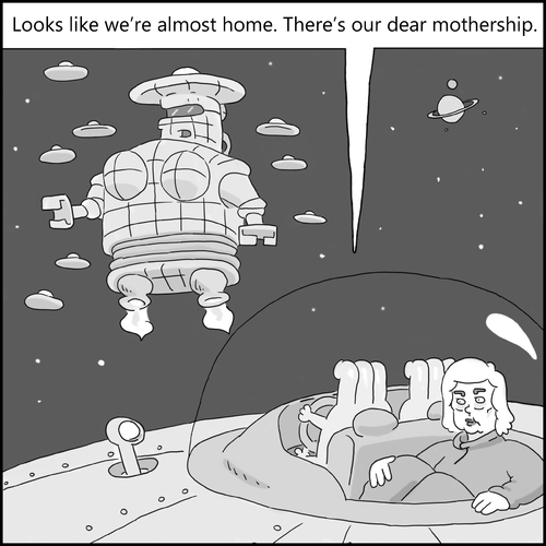 Cartoon: The Mothership (medium) by creative jones tagged space,mothership,hillary,alien,sci,fi,space,mothership,hillary,alien,sci,fi