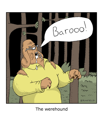 Cartoon: werecanine (medium) by creative jones tagged werewolf,dog,horror,werewolf,dog,horror