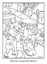 Cartoon: crowd (small) by creative jones tagged revival,evangelical,brownstone,crowd,hatchback,freedom,of,religion,tolerance,assembly