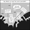 Cartoon: The Protesters (small) by creative jones tagged protesters,aliens