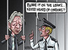 Cartoon: Assange leaks... (small) by Satish Acharya tagged wikileaks assange