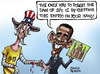 Cartoon: Living with 9-11 wound (small) by Satish Acharya tagged obama,ground,zero,america,mosque