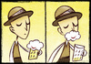 Cartoon: Happy Beer (small) by Giacomo tagged beer,smile,happiness,drinking,bier,trinken,lächeln,glück,giacomo,cardelli,lombrio,jack
