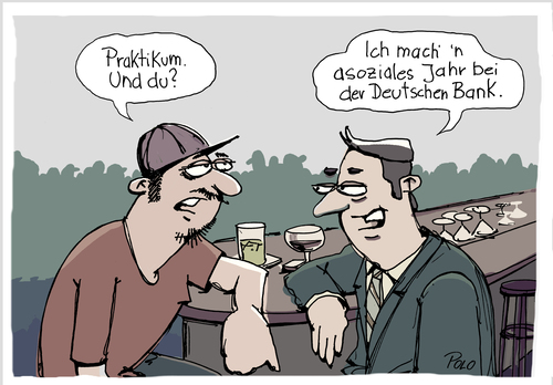 Cartoon: Asoziales Jahr (medium) by POLO tagged bank,banker,fsj,bar,bank,banker,fsj,bar