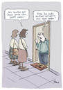 Cartoon: Über Gott reden (small) by POLO tagged zeugen,jehovas,glaube,biebel,gott
