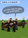 Cartoon: FUNERAL (small) by fcartoons tagged bible,book,bouncer,beerdigung,cartoon,grab,pastor,sarg,sonnenbrille,türsteher,coffin,funeral,refernd,sunglasses