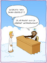 Cartoon: Gottes Ebenbild (small) by fcartoons tagged gottes,ebenbild,schimpanse,affe,evolution,engel,schreibtisch,wolken
