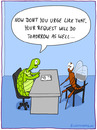 Cartoon: REQUEST (small) by fcartoons tagged chair dayfly desk fly office request turtle