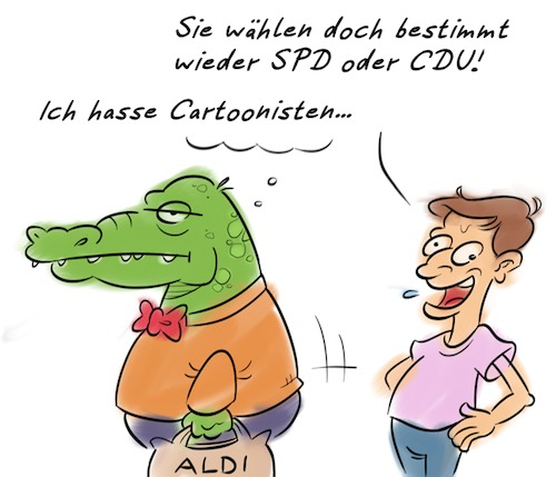 Cartoon: Groko (medium) by Rob tagged groko,kroko,krokodil,crocodile,grosse,koalition,cartoon,cartoons,cartoonisten,cartoonist