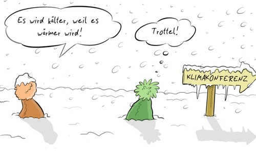Cartoon: Klimakonferenz (medium) by Rob tagged doha,climate,change,gate,klima,konferenz,klimawandel,erderwärmung,global,waming,mütze,mützen,schild,sign,arrow,pfeil,fraud,betrug