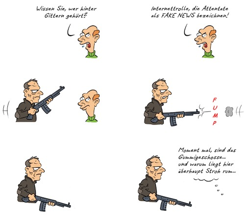 Cartoon: Kommentar Christchurch (medium) by Rob tagged kommentar,kommentator,christchurch,attentat,attentate,terror,gunman,waffe,waffen,weapon,weapons,gun,guns
