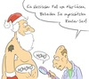 Cartoon: Niko-Laus (small) by Rob tagged nikolaus,weihnachtsmann,weihnachten,christmas,filzlaus,arzt,doctor,lupe