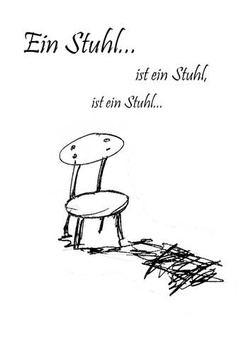 Cartoon: Der Stuhl (medium) by mecco tagged chair,stuhl,funny,mind,love,the
