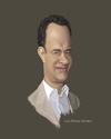 Cartoon: Caricature of Tom Hanks (small) by Luis Benitez tagged tom,hanks,digital,caricature