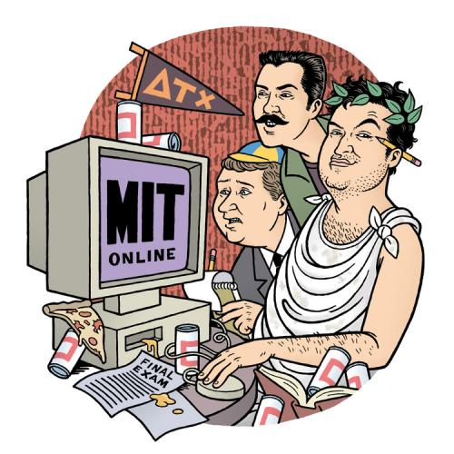 Cartoon: Animal House vs. MIT (medium) by Danny Hellman tagged animal,house,belushi,caricature,illustration