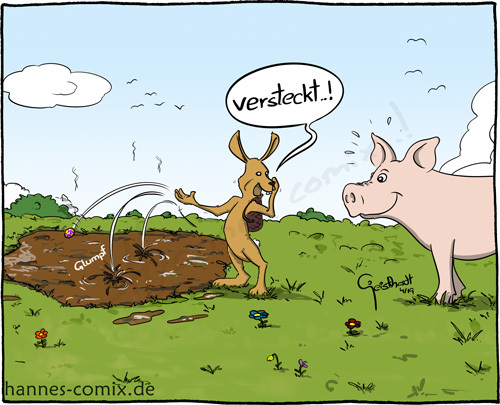 Cartoon: schöne Ostern (medium) by Hannes tagged ostern,osterhase,ei,hase,schwein,landwirt,landwirtschaft,vieh,easter,eastereggs,rabbit,easterbunny,pig,agriculture,farm,farming,cattle