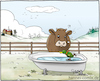 Cartoon: Eislauf-Tränke (small) by Hannes tagged winter,kalt,cold,frost,frostschutz,frostprotection,antifreeze,kuh,kühe,cow,landwirt,farmer,landwirtschaft,agriculture,vieh,viehhaltung,tiere,animals,cattle