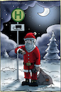 Cartoon: Haltestelle (small) by Hannes tagged weihnachten,weihnachsmann,christman,xmas,santaclaus,öpnv,publictransport,bus,schlitten