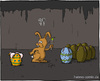 Cartoon: Oster-Alien (small) by Hannes tagged alien,ostereier,osterhase,ostern,überraschungsei