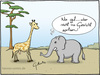Cartoon: Rüssel (small) by Hannes tagged elefant,giraffe,rüssel,blasen,tierwelt