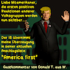Cartoon: Gastkommentar Trump 2 (small) by PuzzleVisions tagged puzzlevisions,donald,trump,america,first,1st,amerika,zuerst,erster,is,anschlag,terror,attack