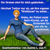 Cartoon: Nafri - Grüne (small) by PuzzleVisions tagged puzzlevisions,grüne,green,partei,party,peter,özdemir,nafri,polizei,police,twitter