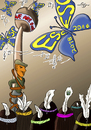 Cartoon: we are one - Wir sind eins (small) by PuzzleVisions tagged europäischen,song,contest,esc,2016,xavier,naidoo,pur,musik,schweden,deutschland,sweden,puzzlevisions,music,germany,indianer,berlin,schmetterling,batterfly
