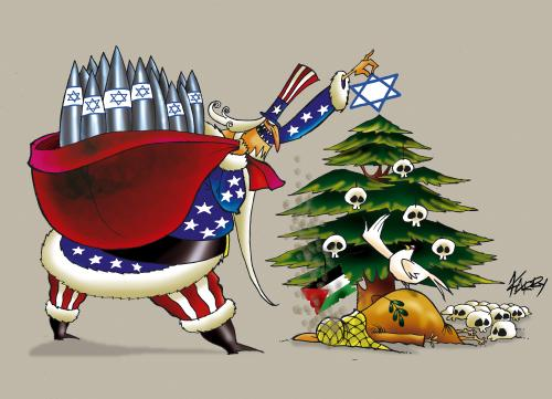 Cartoon: Christmas in Palestine (medium) by KARRY tagged israel,gaza,palestina