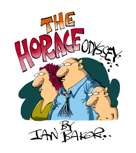 Cartoon: The Horace Odyssey (medium) by Ian Baker tagged horace,odyssey,characters,design,merchandise,marketing