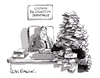 Cartoon: Garbage collection (small) by Ian Baker tagged magazine,gag,cartoon,ian,baker,humour,humor,bins,rubbish,garbage,desk,office,council,pile,man