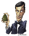 Cartoon: Kamal Khan (small) by Ian Baker tagged kamal,khan,louis,jordan,james,bond,007,villain,film,caricature,octopussy,faberge,egg,india,spies,espionage,baddie