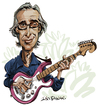 Cartoon: Ry Cooder (small) by Ian Baker tagged ry,cooder,music,slide,guitar,blues,rock,boomers,story,ufo,buena,vista,social,club,little,village,paris,texas,cuba,chavez,ravine,ian,baker,caricature,cartoon