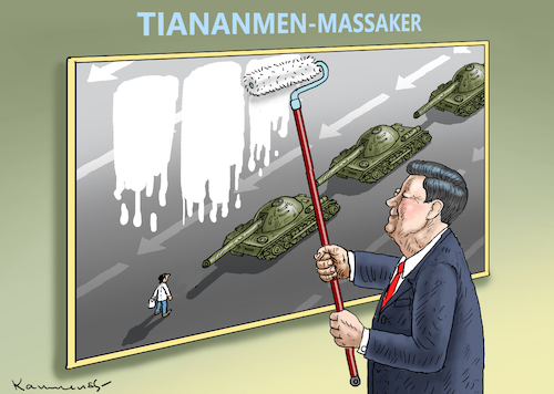 Cartoon: 30 JAHRESTAG VON TIANANMEN (medium) by marian kamensky tagged brexit,theresa,may,england,eu,schottland,weicher,wahlen,boris,johnson,nigel,farage,ostern,seidenstrasse,xi,jinping,referendum,trump,monsanto,bayer,glyphosa,strafzölle,brexit,theresa,may,england,eu,schottland,weicher,wahlen,boris,johnson,nigel,farage,ostern,seidenstrasse,xi,jinping,referendum,trump,monsanto,bayer,glyphosa,strafzölle