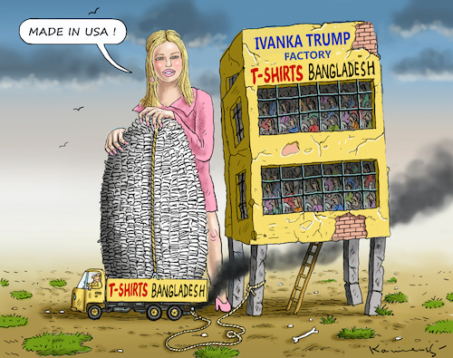 Cartoon: IVANKA TRUMP MADE IN USA (medium) by marian kamensky tagged obama,trump,präsidentenwahlen,usa,baba,vanga,republikaner,inauguration,ivanka,made,in,demokraten,wikileaks,faschismus,obama,trump,präsidentenwahlen,usa,baba,vanga,republikaner,inauguration,ivanka,made,in,demokraten,wikileaks,faschismus