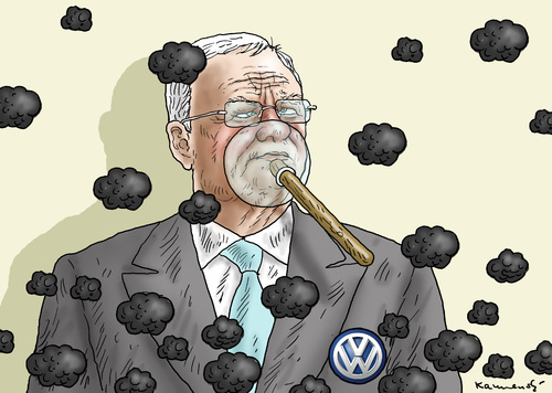 Cartoon: MARTIN WINTERKORN (medium) by marian kamensky tagged piech,und,winterkorn,vw,vorstand,clean,diesel,abgasmanipulation,piech,und,winterkorn,vw,vorstand,clean,diesel,abgasmanipulation