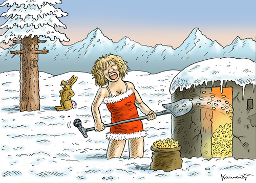 Cartoon: TINA TURNER IN DER SCHWEIZ (medium) by marian kamensky tagged tina,turner,in,der,schweiz,tina,turner,in,der,schweiz