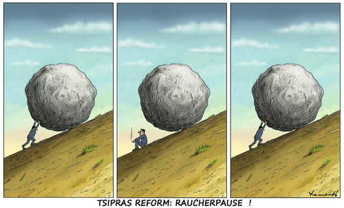 Cartoon: TSIPRAS REFORM RAUCHERPAUSE (medium) by marian kamensky tagged alexis,tsipras,griechenland,rettungsschirm,eu,griechowestern,alexis,tsipras,griechenland,rettungsschirm,eu,griechowestern