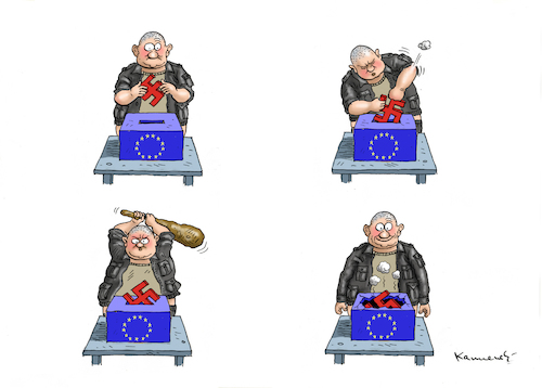 Cartoon: WAHLEN MIT HAKEN (medium) by marian kamensky tagged brexit,theresa,may,england,eu,schottland,weicher,wahlen,boris,johnson,nigel,farage,ostern,seidenstrasse,xi,jinping,referendum,trump,monsanto,bayer,glyphosa,strafzölle,brexit,theresa,may,england,eu,schottland,weicher,wahlen,boris,johnson,nigel,farage,ostern,seidenstrasse,xi,jinping,referendum,trump,monsanto,bayer,glyphosa,strafzölle