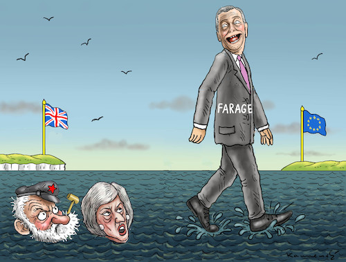 Cartoon: WENN SICH ZWEI STREITEN (medium) by marian kamensky tagged brexit,theresa,may,england,eu,schottland,weicher,wahlen,boris,johnson,nigel,farage,ostern,referendum,brexit,theresa,may,england,eu,schottland,weicher,wahlen,boris,johnson,nigel,farage,ostern,referendum