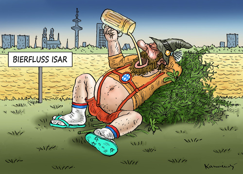 Cartoon: WIESN (medium) by marian kamensky tagged wiesn,oktoberfest,münchen,wiesn,oktoberfest,münchen