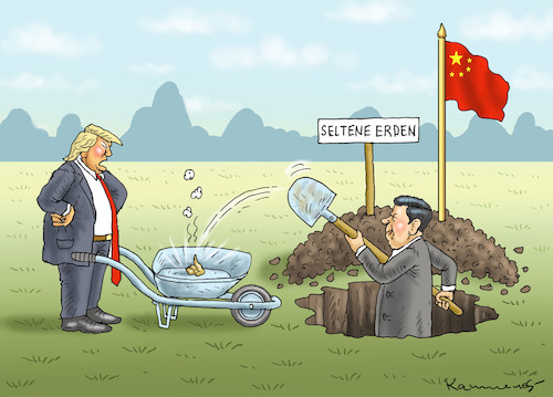 Cartoon: XI JINPINGS SEHR SELTENE ERDEN (medium) by marian kamensky tagged brexit,theresa,may,england,eu,schottland,weicher,wahlen,boris,johnson,nigel,farage,ostern,seidenstrasse,xi,jinping,referendum,trump,monsanto,bayer,glyphosat,strafzölle,brexit,theresa,may,england,eu,schottland,weicher,wahlen,boris,johnson,nigel,farage,ostern,seidenstrasse,xi,jinping,referendum,trump,monsanto,bayer,glyphosat,strafzölle